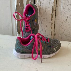 Skechers gray and pink sneakers Size 12